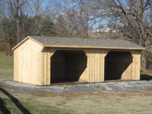 Portable horse barns and run in shelters
