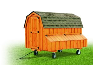 Cedar Stain D48 Front View With Optional Wheels and Handle
