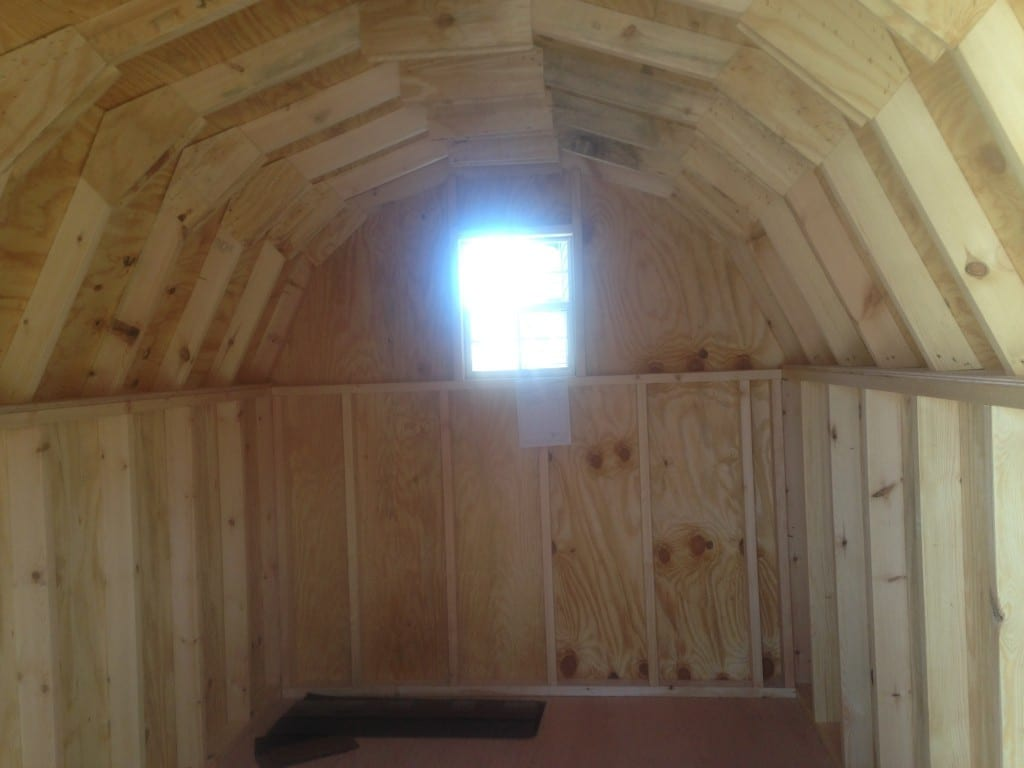 8x12 Minibarn inside with window