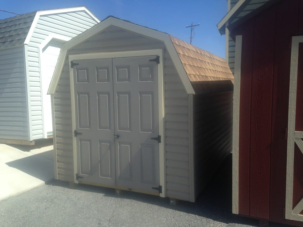 8x12 Vinyl Minibarn Utility Shed For Sale