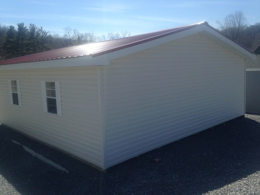 two car garage delivered prefab in maryland for sale