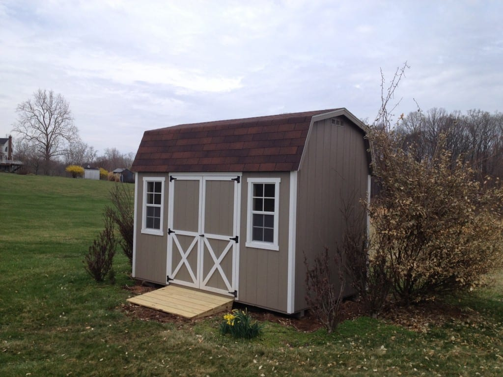 storage barn delivered to germantown maryland after old storage shed was removed